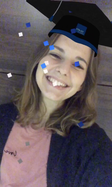 Instagram Kamera Effekt Graduation Hat