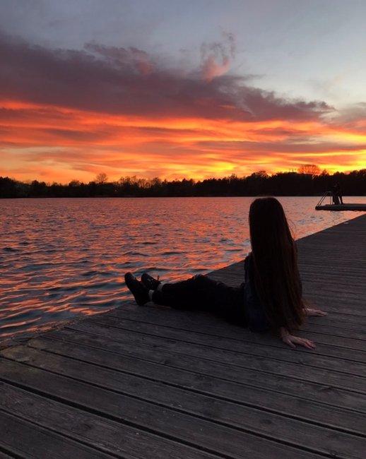 Sonnenuntergang Lia Person