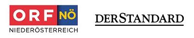 Logos von ORF NÖ und derStandard.at