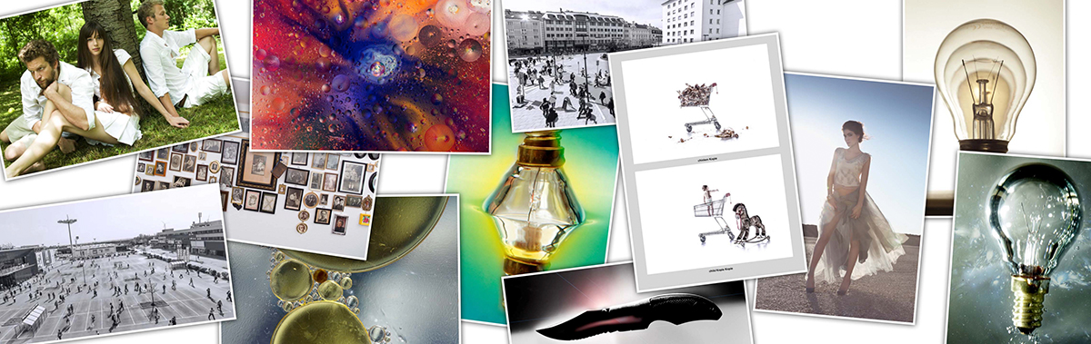 Collage aus Fotos von Absolvent*innen des Lehrgangs Angewandte Fotografie
