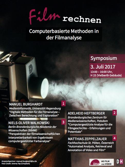 Flyer zum Symposium Film rechnen