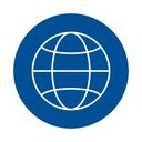 Weltkugel FH-blau