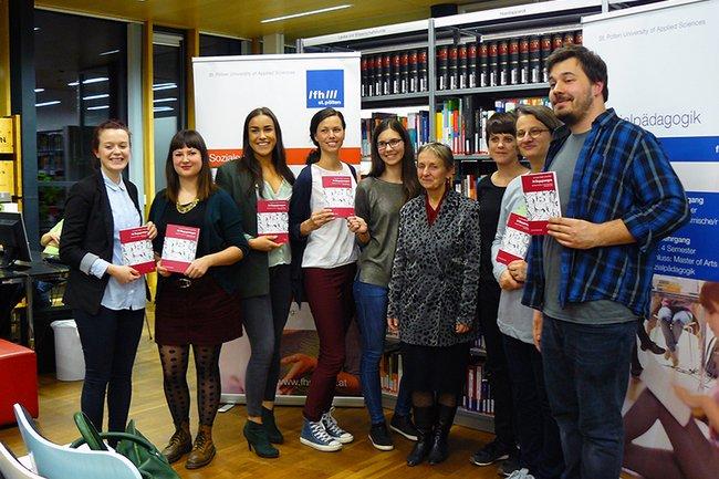 """Autorinnen und Autoren des Buches """"34 Begegnungen. KlientInnen berichten von ihren Erfahrungen mit Sozialer Arbeit"""""""