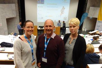 DozentInnen des Studiengangs Physiotherapie Anita Kiselka, Andreas Stübler und Barbara Wondrasch