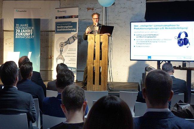FH-Dozent Michael Iber präsentiert AARiP beim Fraunhofer Technologietag in Erfurt