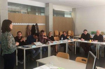 Anja Centeno Garcia im Workshop für kompetenzorientiertes Prüfen