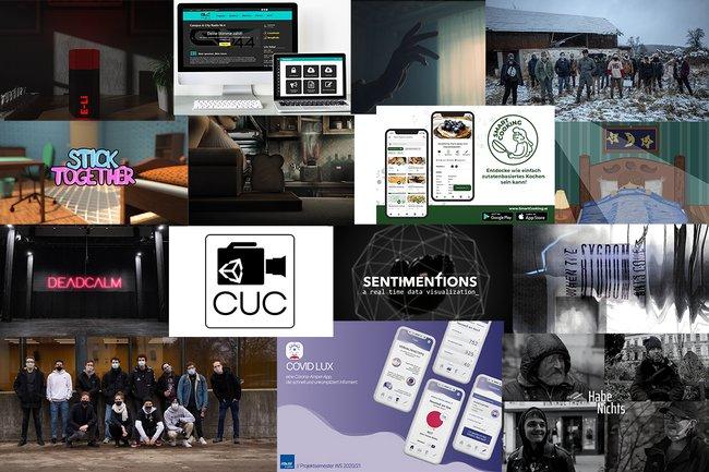 Eine Collage aus Screenshots aller Projekte
