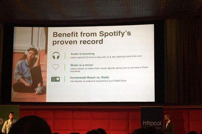 Präsentation von Spotify zum Thema Audio Ads