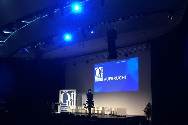 Medienmanagement-Studierende besuchten die Österreichischen Medientage 2018.