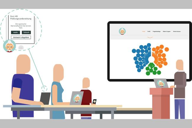 Mit der Audience Response Web App Tenjin können schnell und unkompliziert Quizze und Umfragen durchgeführt werden.