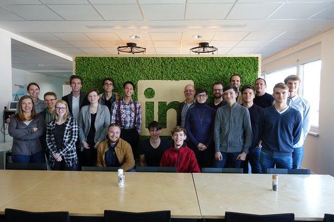 Data Science und Business Analytics Studierende besuchen LinkedIn