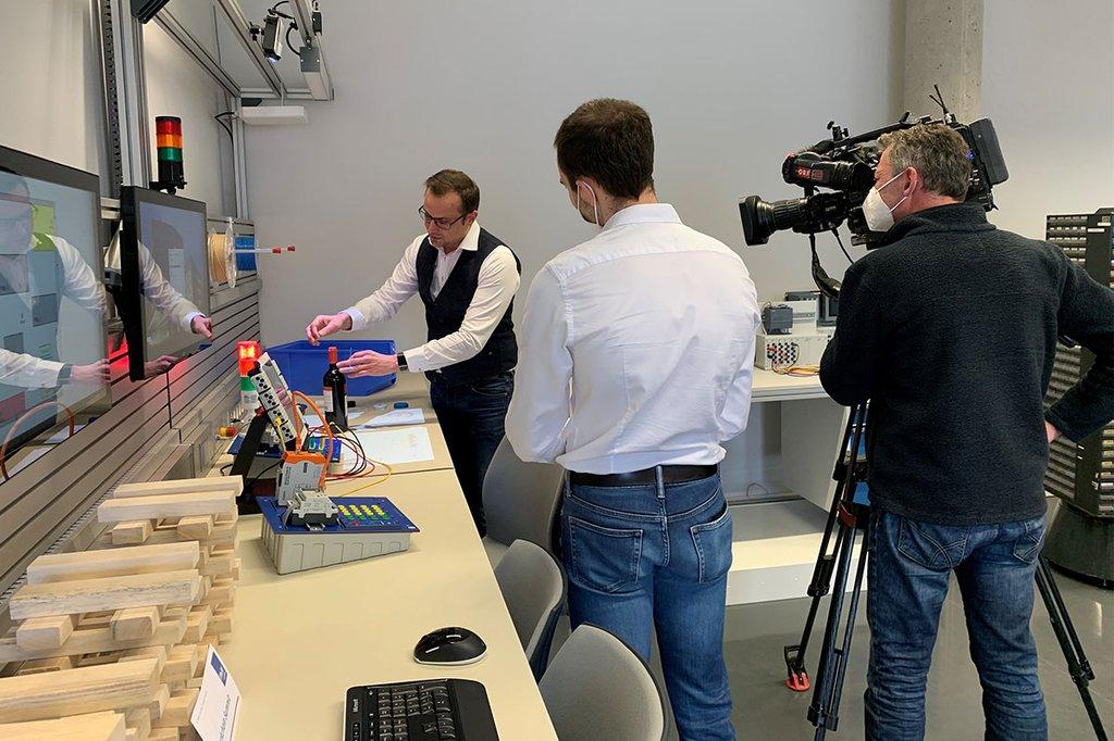 Der ORF zu Gast an der FH St. Pölten zum Thema Blockchain-Technologie