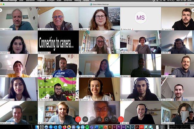Projektsemester-Zwischenpräsentation - online in Coronazeiten