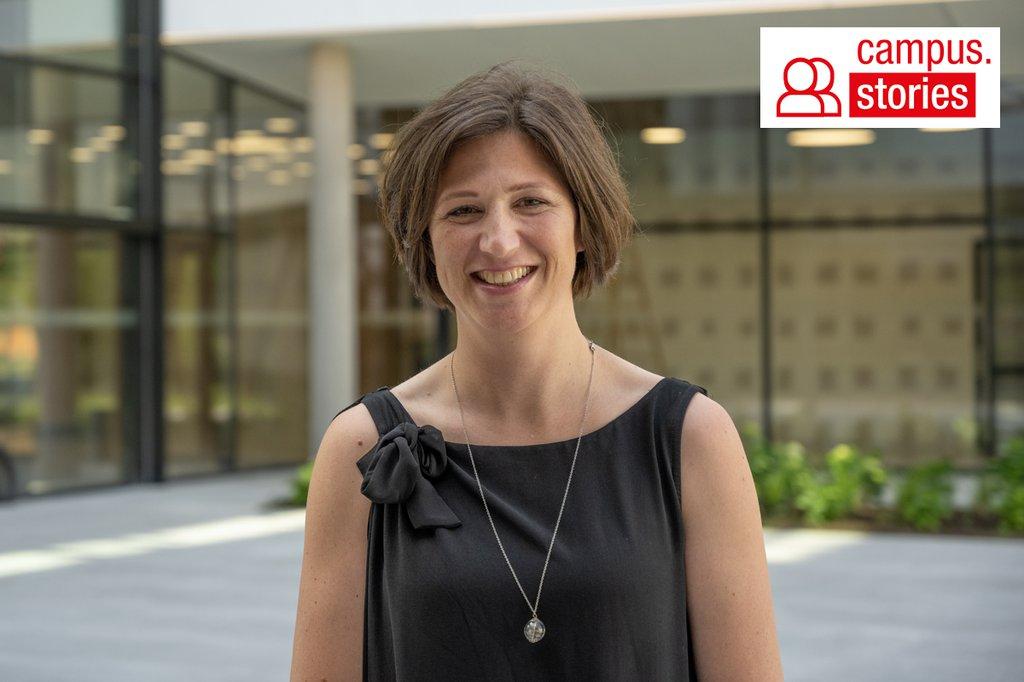 Senior Researcherin Elisabeth Höld freut sich auf die Labore im Bereich Diätologie.