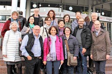 Das ForscherInnenteam auf der Frankfurter Buchmesse.