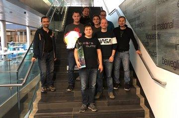 CTF-Sieger mit deren Betreuern und Organisatoren