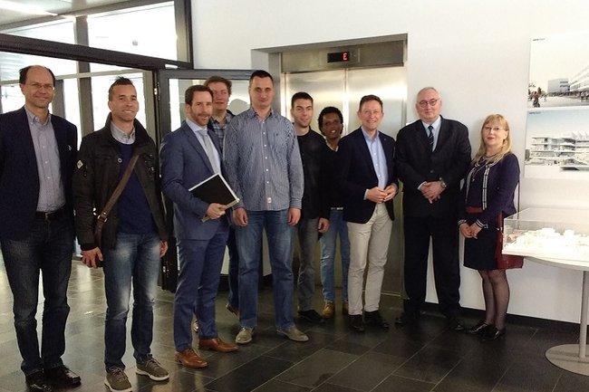 Die serbische Delegation an der FH St. Pölten