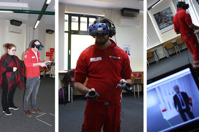 Virtuelles Training für den Ernstfall beim Roten Kreuz in Korneuburg