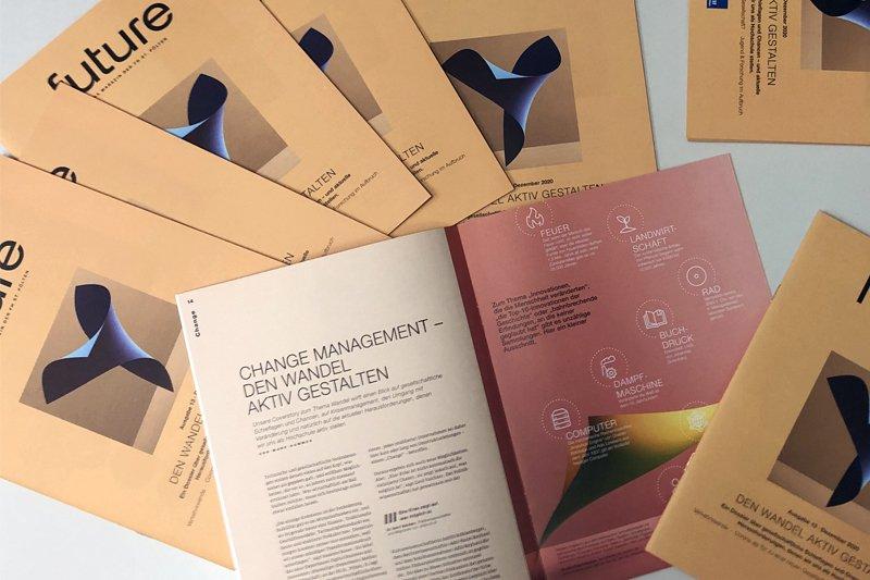 """In der 13. Ausgabe des FH-Magazins """"future"""" dreht sich alles um das Thema Wandel"""