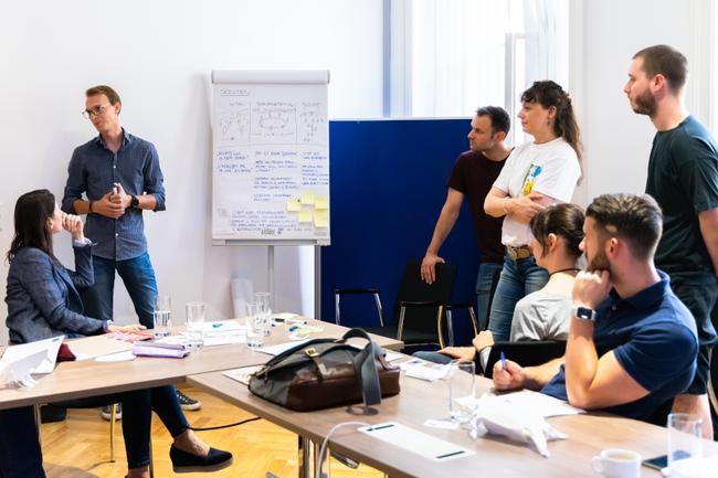 Design Thinking im Rahmen der Workshopreihe von SMARTUP St. Pölten und Pioneers