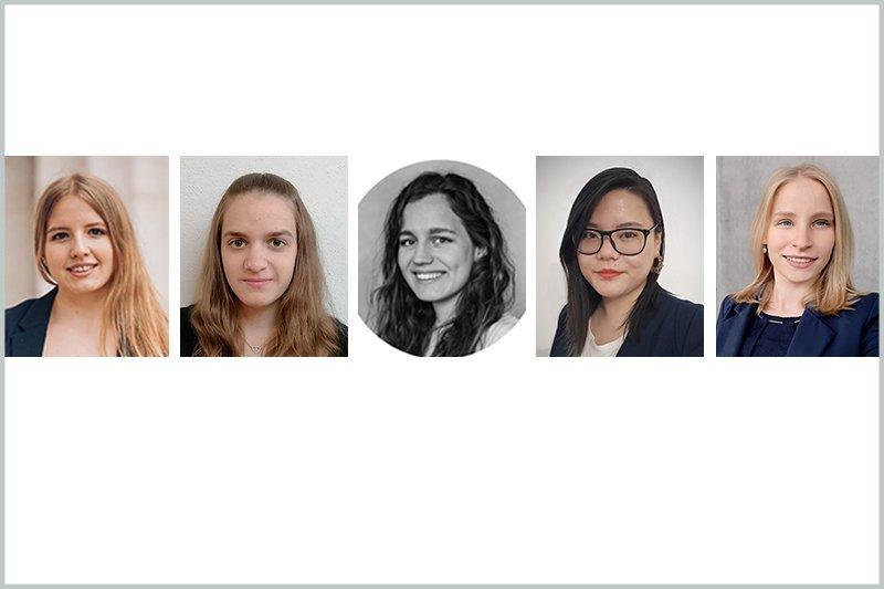 Kandidatinnen für den Dialog Marketing Rookie von li.: Sarah Schwarzinger, Franziska Dopona, Chiara Bammer, Hsu Shao und Christina Mittelbach