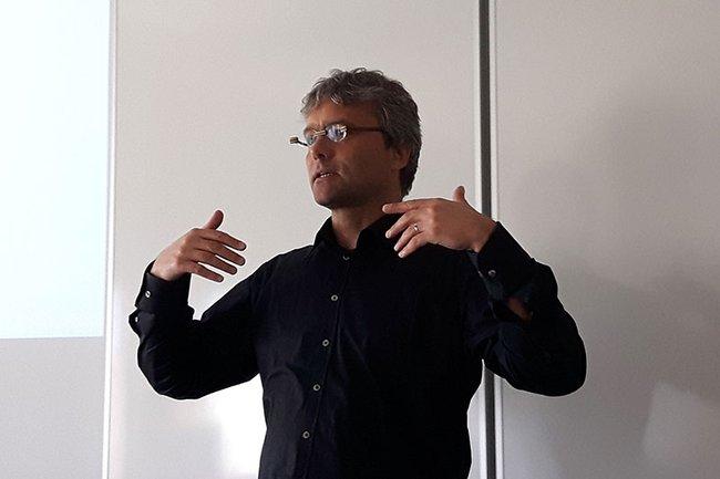 Hannes Raffaseder spricht über die Audio-Welt.