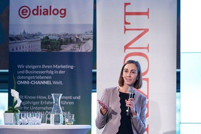 FH-Dozentin Barbara Klinser-Kammerzelt bei den Horizont Marketing Days 2019