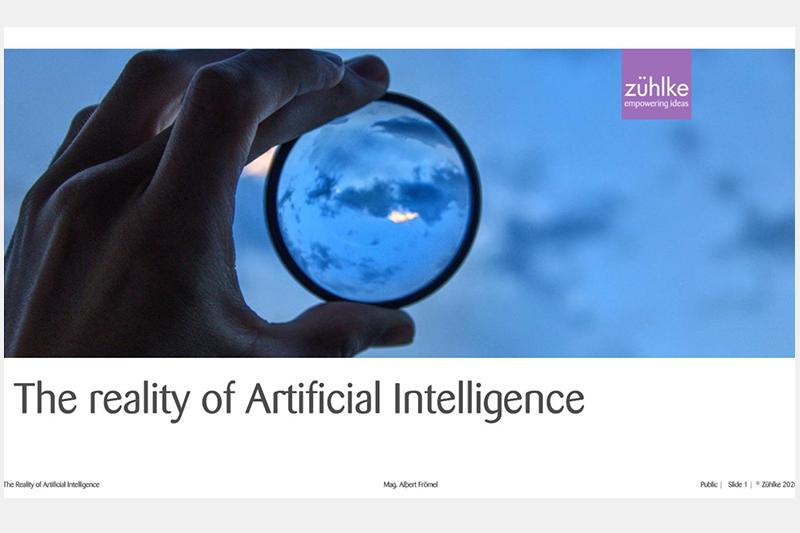Die Realität von künstlicher Intelligenz - Vortrag von Albert Frömel an der FH St. Pölten
