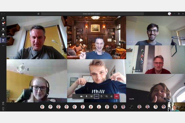 Präsentation der Praktika im virtuellen Chatroom