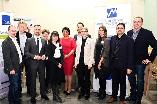 Die FachexpertInnen zusammen mit VertreterInnen der FH St. Pölten und der ÖMG