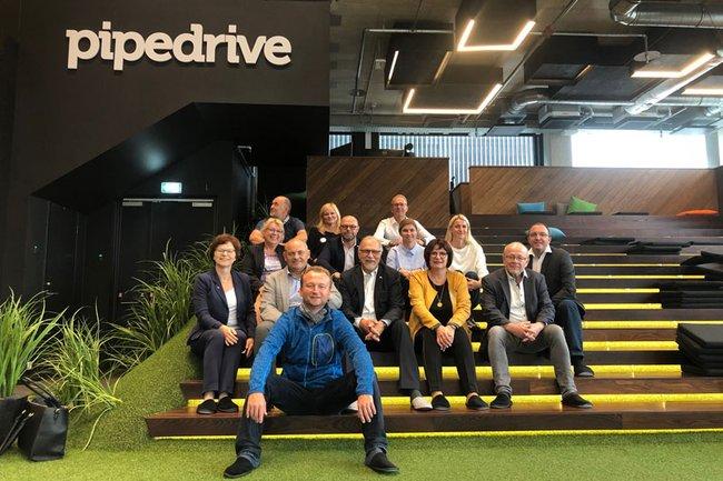 Besuch im Unternehmen Pipedrive
