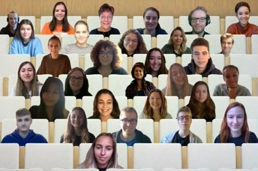 Studierende des Studiengangs Medienmanagement bei der virtuellen Informationsveranstaltung zum Thema Auslandssemester