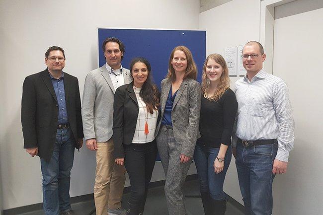 Einige der Speaker zusammen mit VertreterInnen des Studiengangs Media- und Kommunikationsberatung (FH St. Pölten)