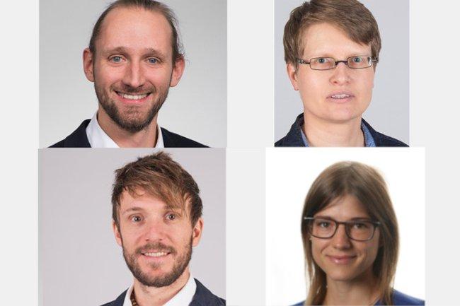 Matthias Zeppelzauer, Kerstin Blumenstein, Brian Horsak und Sandra Vyssoki
