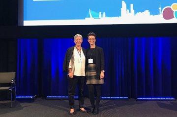 Alexandra Kolm und Daniela Wewerka-Kreimel bei der 10. EFAD Konferenz