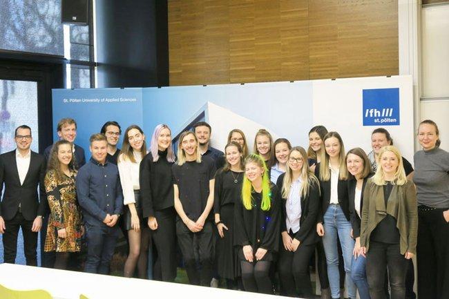 Studierende der FH St. Pölten präsentierten ihre Event-Konzepte für Samsung