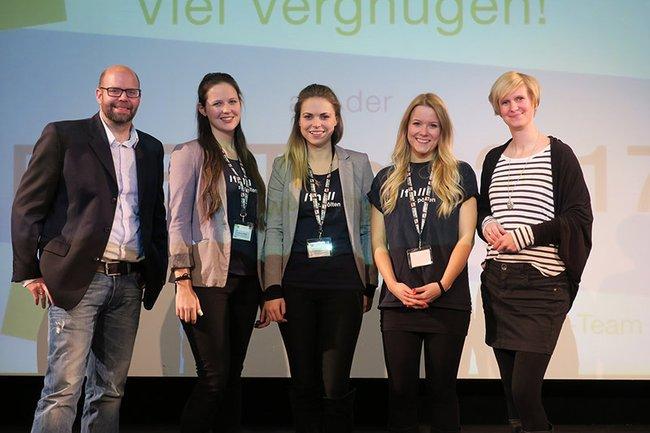 Das Organisationsteam der EVENTcon 2017 (Mitte) mit den LV-LeiterInnen Stefan Emese und Claudia Mann
