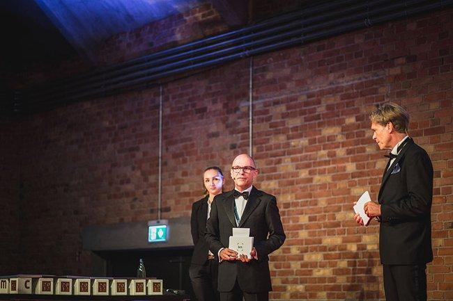 Michael Höflich (Geschäftsführer Content Marketing Forum) bei der letztjährigen Verleihung des Best of Content Marketing Awards.