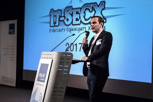 Thomas Brandstetter bei der IT-SecX