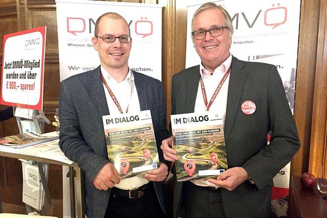 Harald Wimmer zusammen mit DMVÖ-Geschäftsführer Martin Wilfing