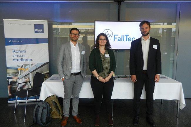 Studierende des Master Studiengangs Digital Healthcare präsentierten ihr Projekt FallTec beim Alternsmedizin-Kongress in Linz