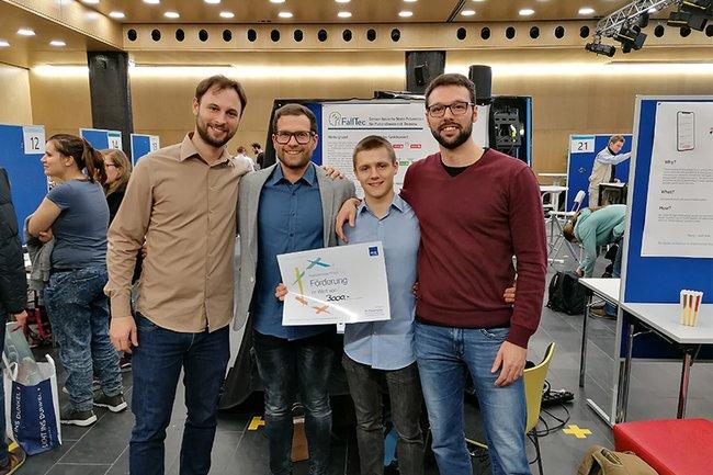 Das Projekt FallTec gewinnt den 1. Preis der der projektevernissage.plus 2020
