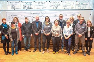 Gruppenfoto TeilnehmerInnen beim 1. Sozialpädagogischen Fachtag