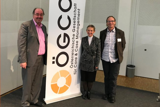 Christoph Redelsteiner, Monika Vyslouzil und Kurt Fellöcker bei der 12. ÖGCC-Fachtagung