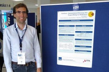 Sebastian Schrittwieser vom Institut für IT Sicherheitsforschung beim FH-Forschungsforum 2019