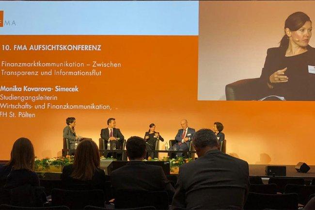 Monika Kovarova-Simecek bei der 10. FMA Aufsichtskonferenz