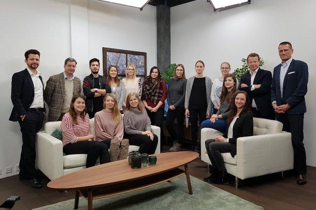 Die Gruppe aus dem Master Studiengang Digital Media Management präsentierte ihre Projektergebnisse vor dem Auftraggeber - den Oberösterreichische Nachrichten.