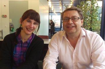 FH-Dozent Johann Grassl und FH-Dozentin Andrea Dolder (FH Bern)
