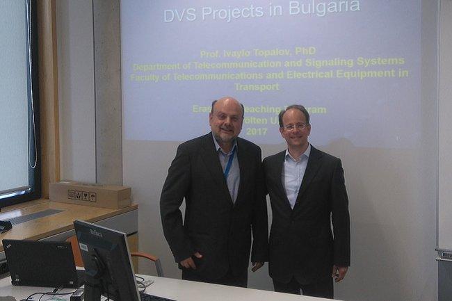 Prof. Topalov als Gast in der Lehrveranstaltung von FH-Lektor Werner Dorfmeister