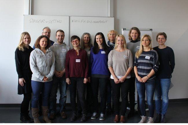 PraktikumsanleiterInnen mit Kerstin Lampel und Christian Freisleben-Teutscher